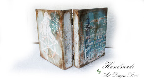 Art wooden book type box. A gift for a man, a friend. A gift for a woman. A family gift.