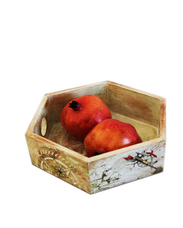 Handmade wooden pan for fruits, candies, etc.
