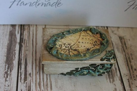 "Hand-aged box ""Sea Map"""